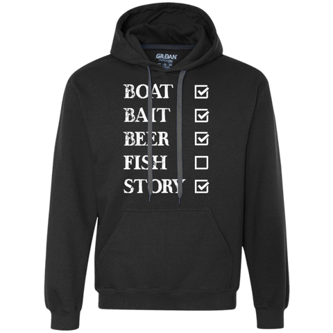 Fishing Checklist -Heavyweight Pullover Fleece Sweatshirt