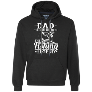Dad The Man The Myth The Legend - Heavyweight Pullover Fleece Sweatshirt