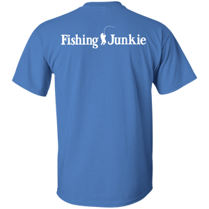 Fishing Junkie - Print On Back Of T-shirt