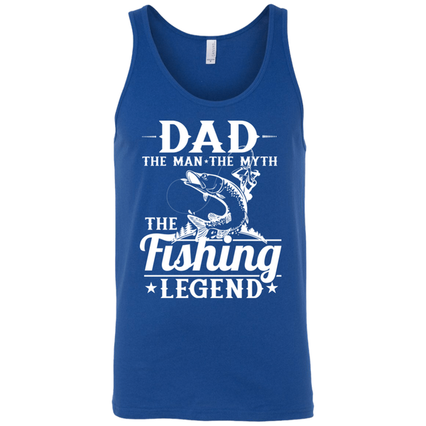 Dad The Man The Myth The Fishing Legend Fishing Tank Top Iris Blue