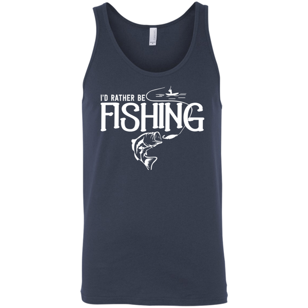 I'd Rather Be Fishing - Unisex Fishing Tank Top