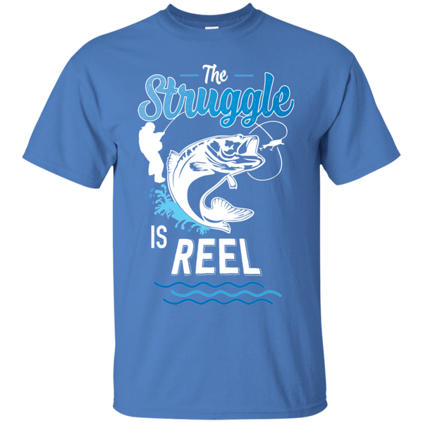 Funny Fishing Shirt The Struggle Is Reel Iris Blue