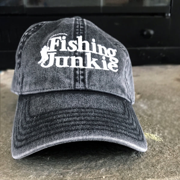 Fishing Junkie Embroidered Vintage Cotton Twill Cap