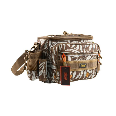 fishing tackle bag brown