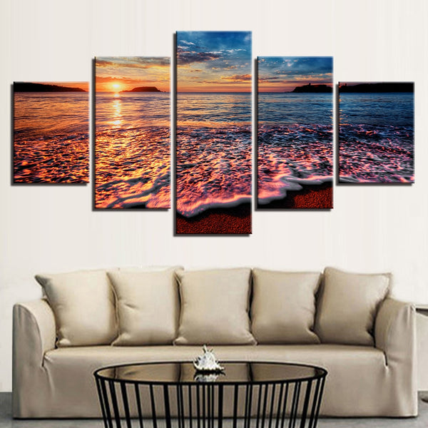 Sunset Beach Canvas Wall Art