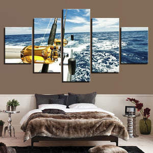 Offshore fishing Canvas Art