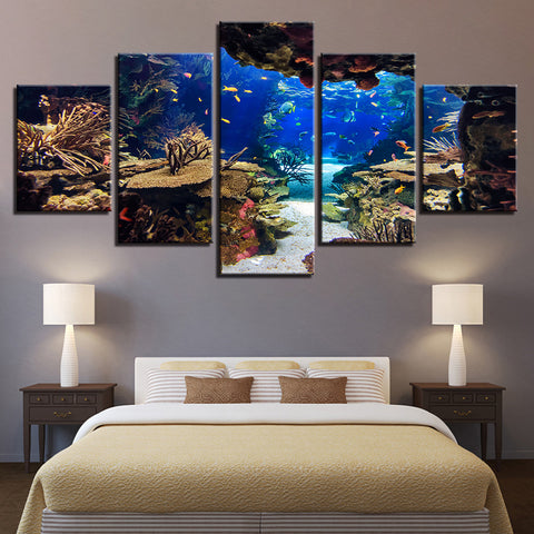 underwater canvas wall art