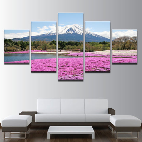 mountain lake canvas art