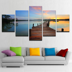 Canvas Wall Art Fishing Dock