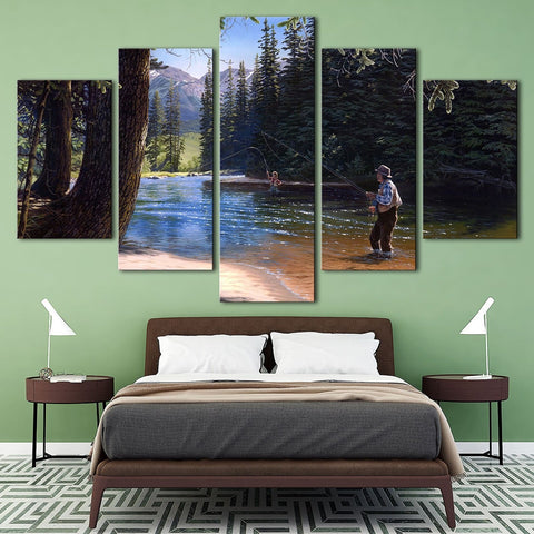 Fly Fishing Canvas Art Wall Decor