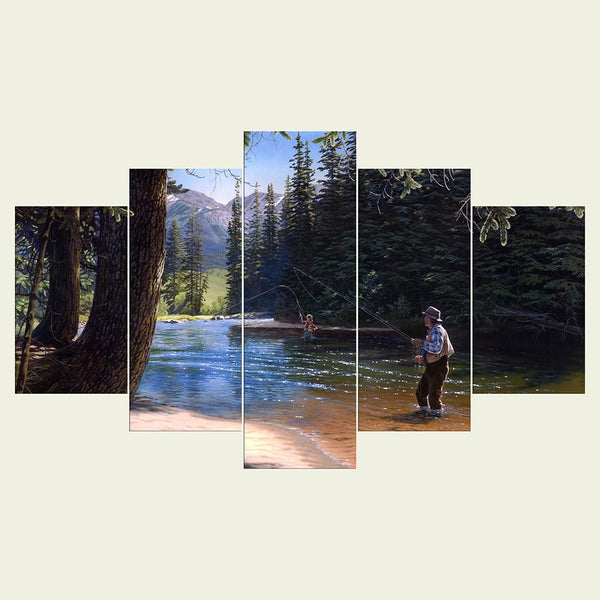 Fly Fishing Canvas Wall Art