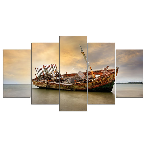 Canvas Wall Art Rundown Boat