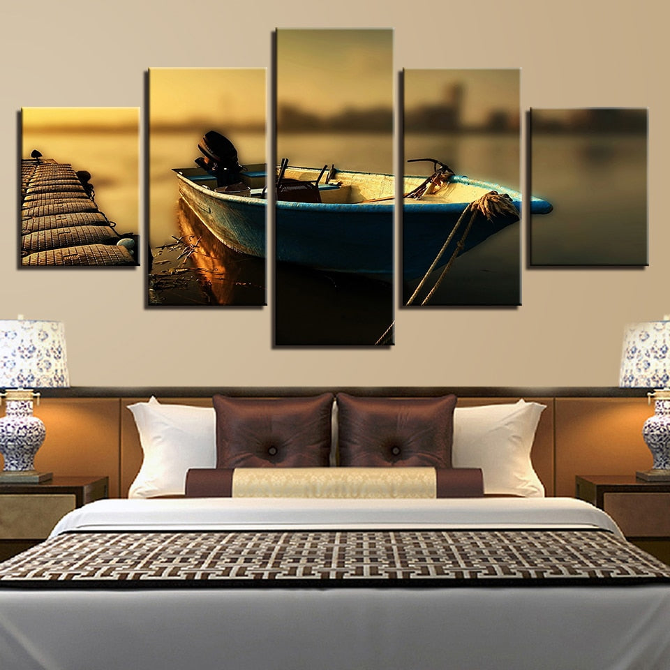boat theme canvas wall art