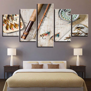 Canvas Wall Art Fly Fishing Tackle