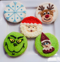 Hand Piped Christmas Cookies