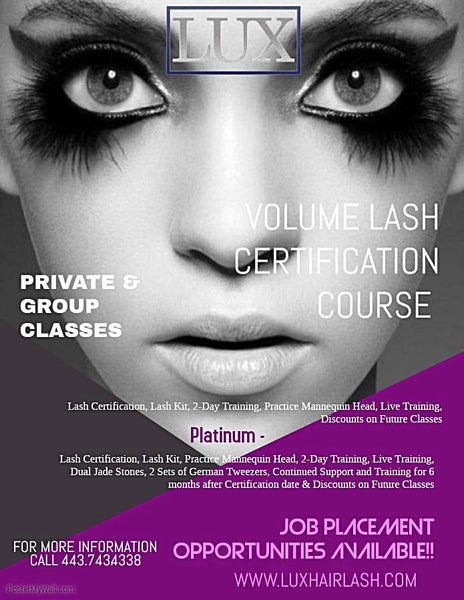 Volume Lash Extension Certification Course