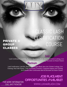 Classic Lash Extension Certification Course