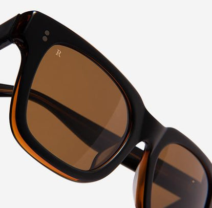 Unisex Black and Tan Sunglasses