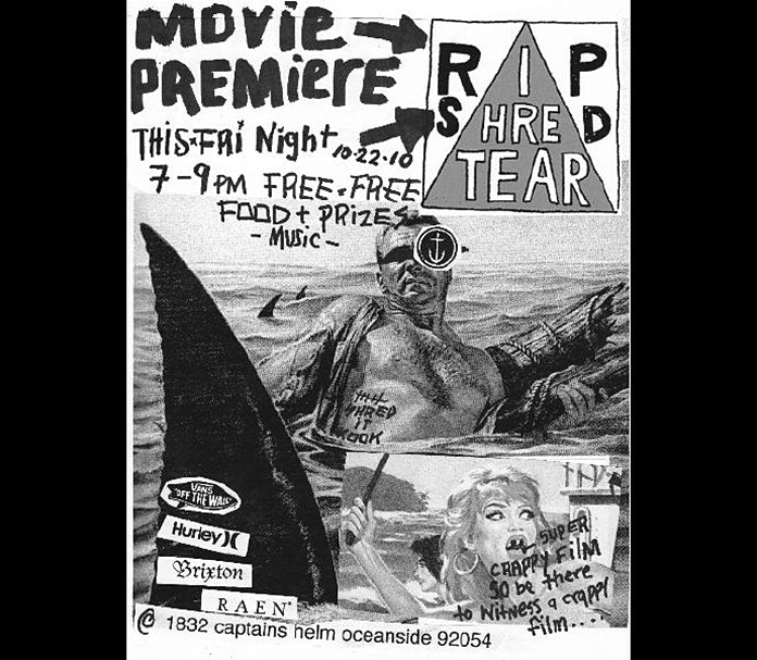 RIP SHRED TEAR Movie Premiere this Friday in Oceanside, CA