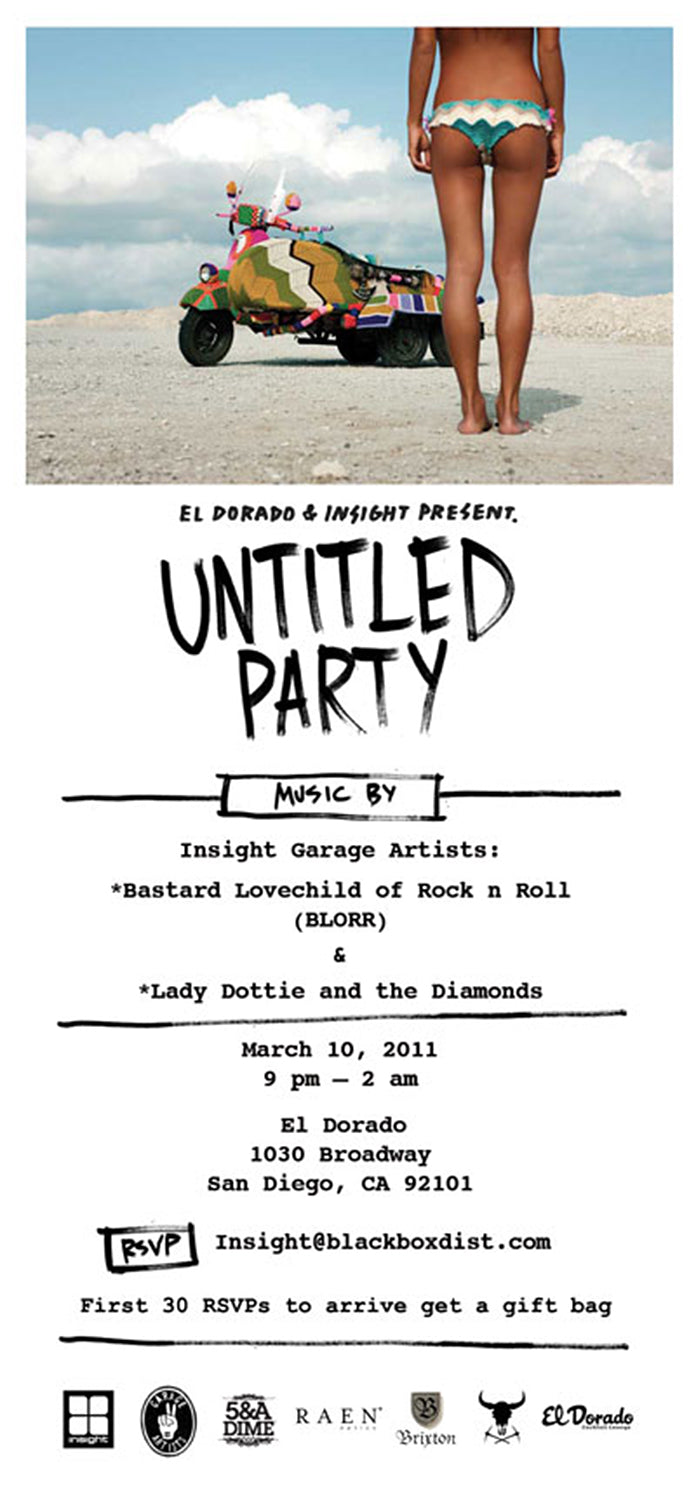 """Untitled Party"" at El Dorado March 10th Let's do this!"