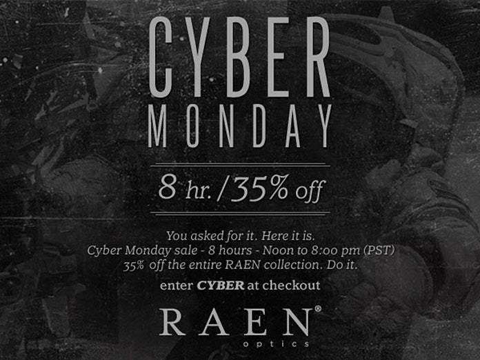 RAEN Cyber Monday Sale