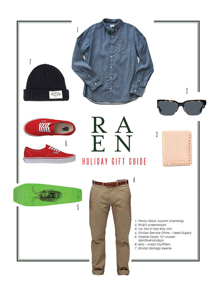 RAEN Holiday Gift Guide - For Him
