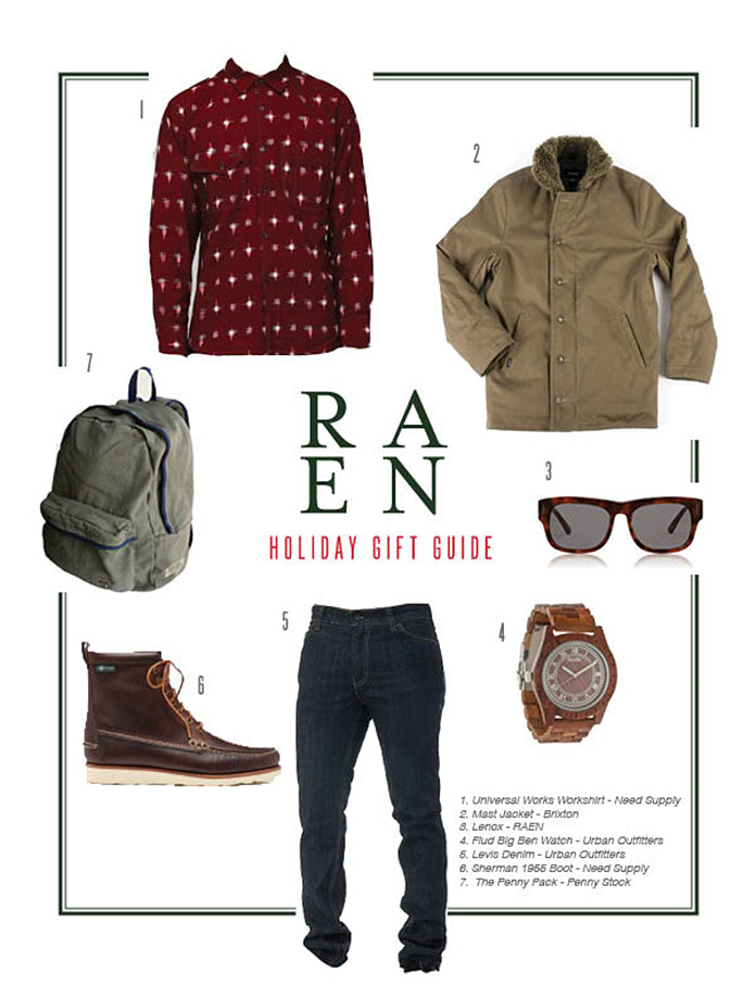 RAEN Holiday Gift Guide - For Him…Again