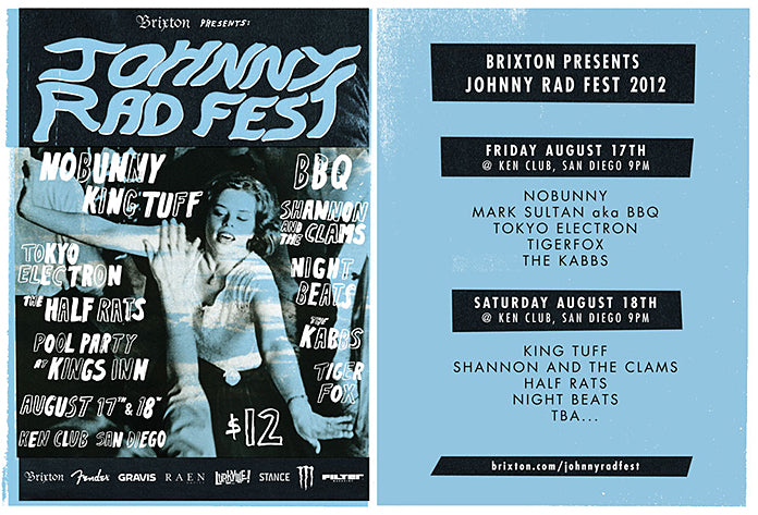 RAEN is excited to be apart of The Johnny Rad Fest this weekend with our friends at Brixton