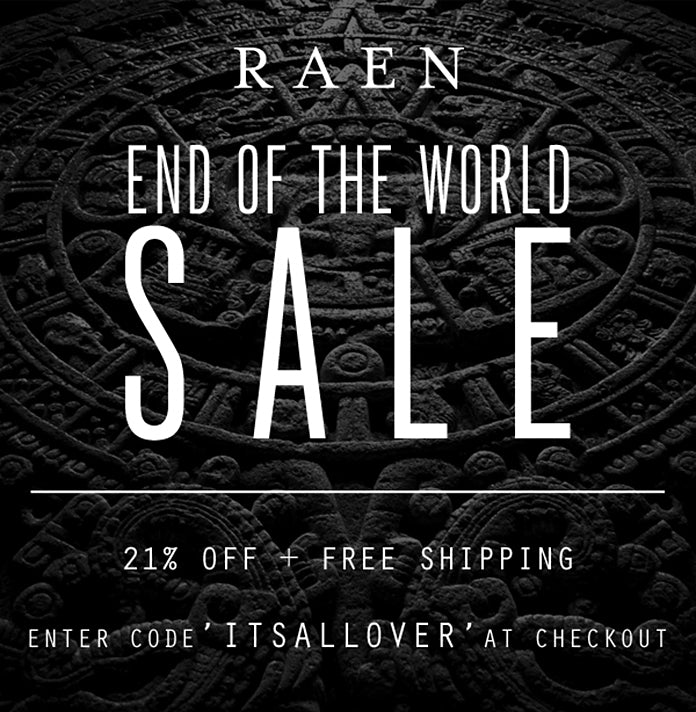 END OF THE WORLD SALE