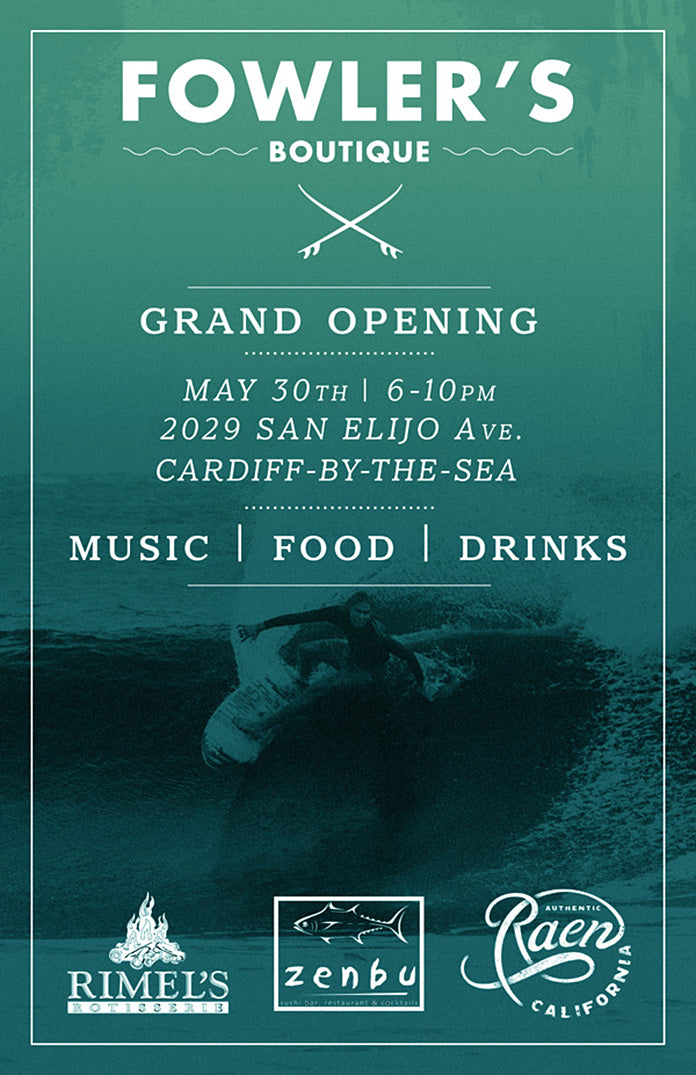 Grand Opening of the Fowler's TOMORROW NIGHT!