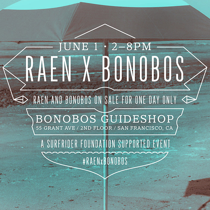 RAEN x Bonobos Pop-up Shop in SF!