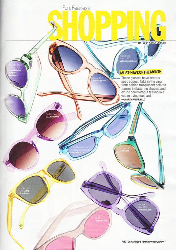 The Volant in Crystal Rose in July's COSMO!