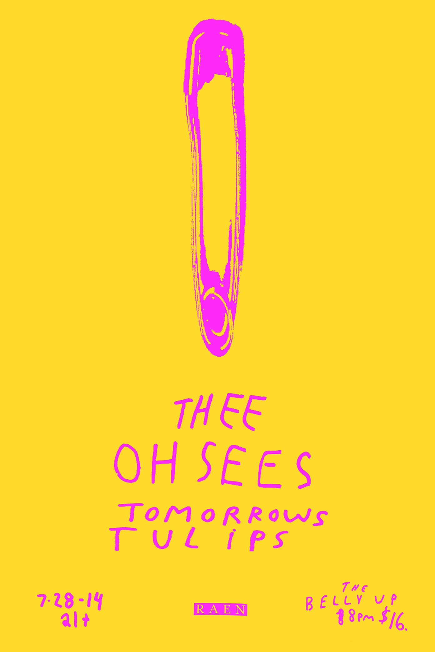 THEE OH SEES // BELLY UP