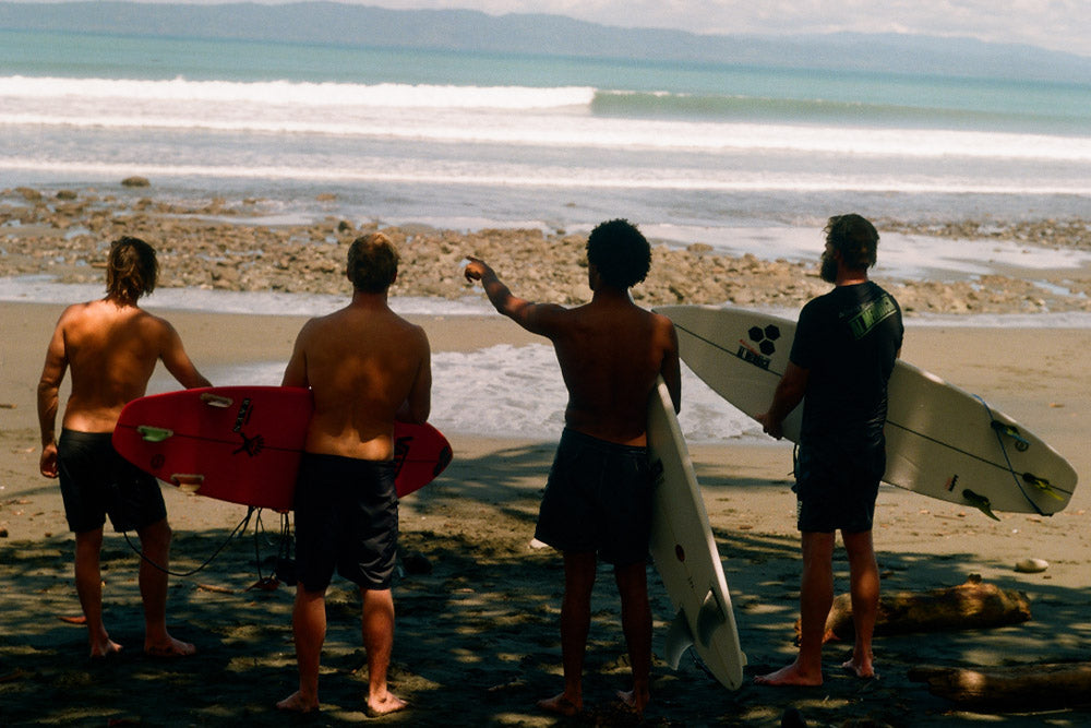 Mikey February with Britt Merrick and the Gudauskas brothers
