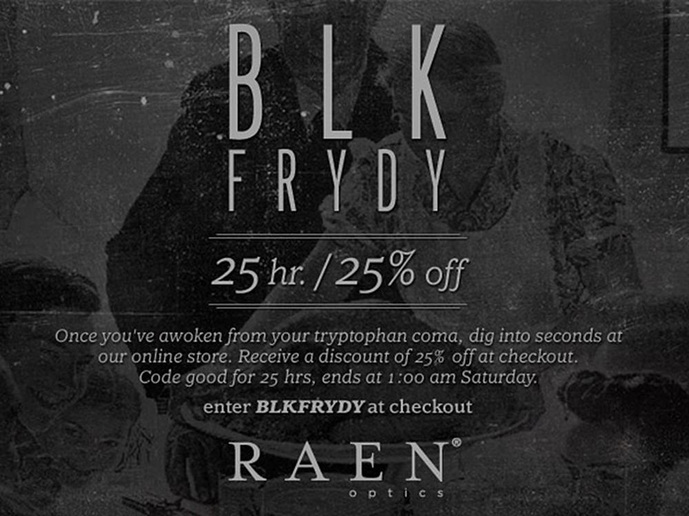 25 hr / 25% Off Black Friday SALE