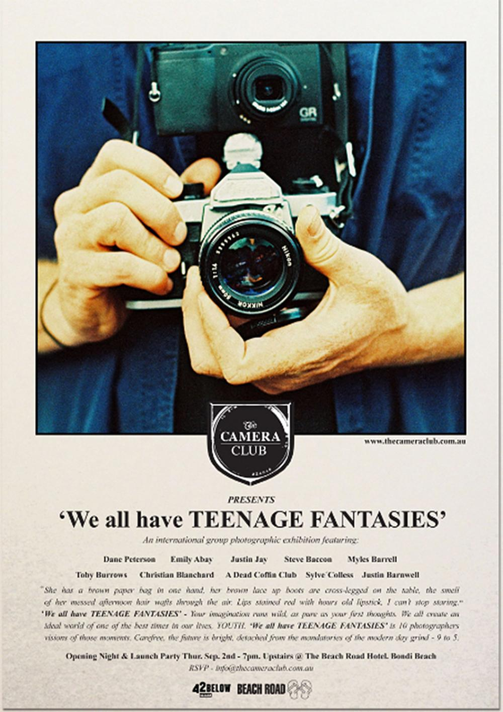 """""""We All Have Teenage Fantasies"""" Photography Exhibit featuring Dane Peterson"""