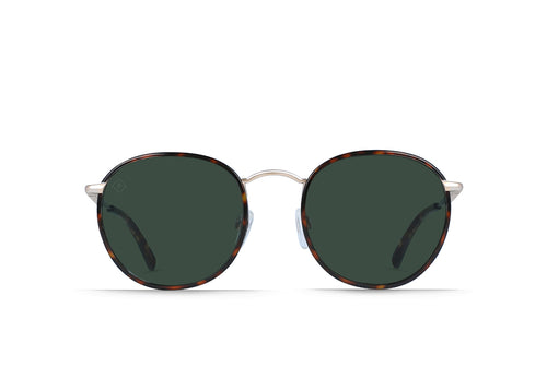 Brindle Tortoise + Japanese Gold / Green Polarized