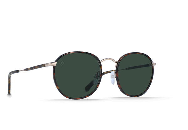 featured_image Brindle Tortoise + Japanese Gold / Green Polarized Size 51