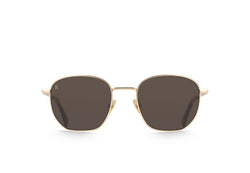 Satin Japanese Gold + Brindle Tortoise / Smoke Brown Polarized / 51
