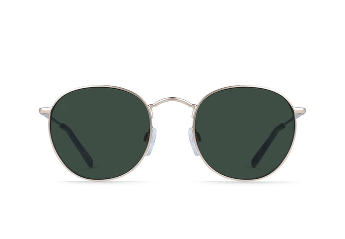 Japanese Gold + Brindle Tortoise / Green Polarized