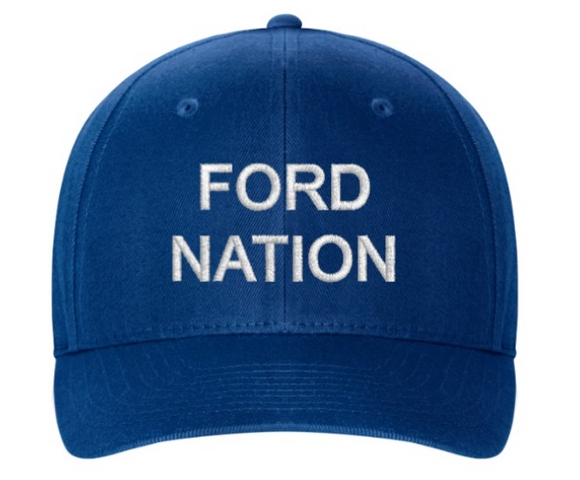 Embroidered Flexfit Structured Twill Cap - FORD NATION