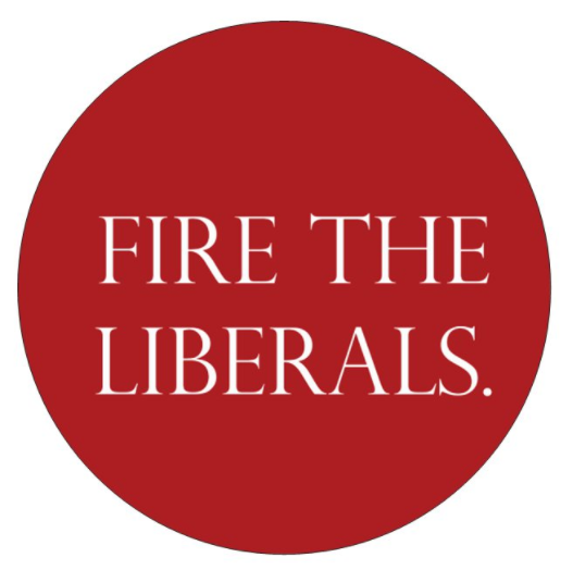 buy hard hat stickers - fire the liberals.