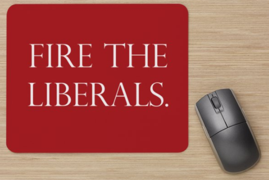 Fire the liberals mouse pads