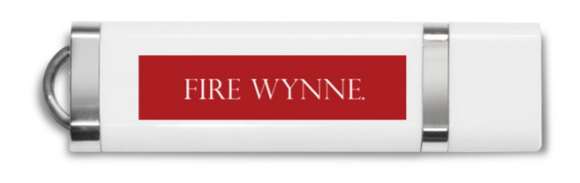 8GB USB Stick - Fire Wynne