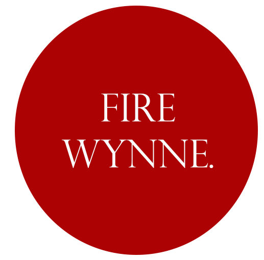 Fire Wynne Hard hat stickers 3