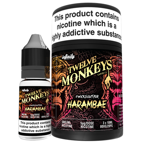 Twelve Monkeys e liquid- Harambae- 3 x 10ml