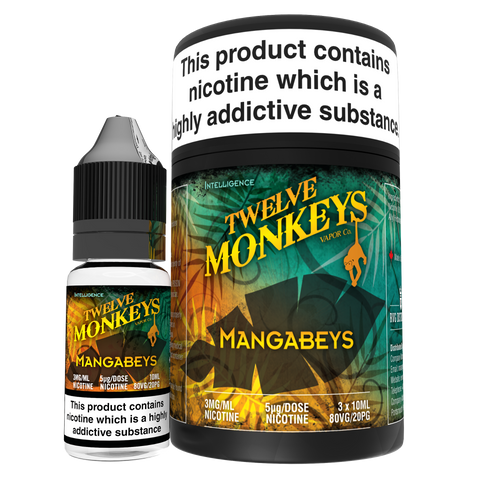 Twelve Monkeys e liquid- Magabeys- 3 x 10ml
