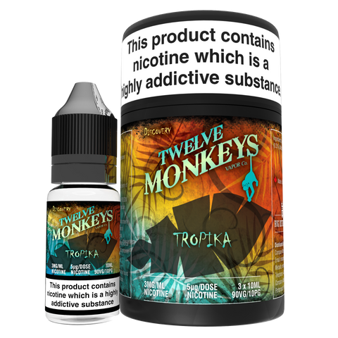 Twelve Monkeys e liquid- Tropika- 3 x 10ml