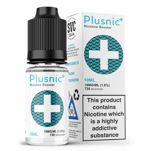 PLUS NIC  – Booster High VG – 18mg/ml VG/PG: 70/30 10 ML