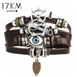 Punk Design Turkish Eye Bracelets For Men and Woman New Fashion Wristband - 12 colors